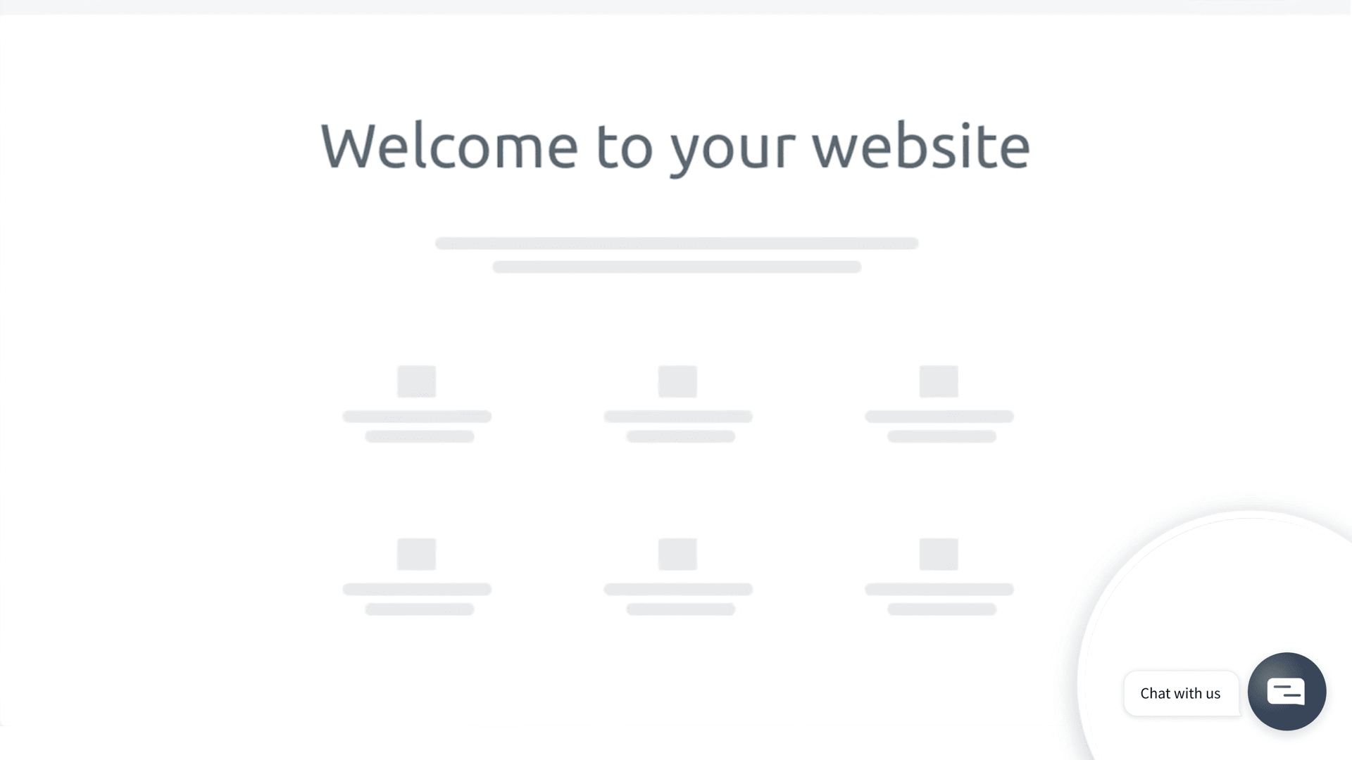 The chatsupport widget appearing on the bottom right corner of the Wordpress website
